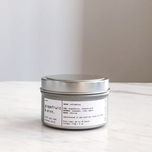 SWEET GRAPEFRUIT | 100% SOY TRAVEL SIZE CANDLE