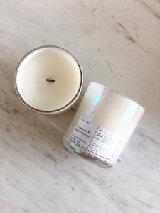 CILANTRO & DARK COCONUT | VIRGIN COCONUT CRÈME WAX & WOODEN WICK CANDLE