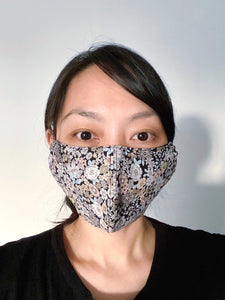 FACE MASK | BLACK FLORAL PRINT