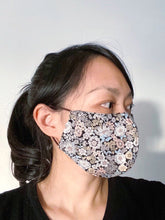 Load image into Gallery viewer, FACE MASK | BLACK FLORAL PRINT