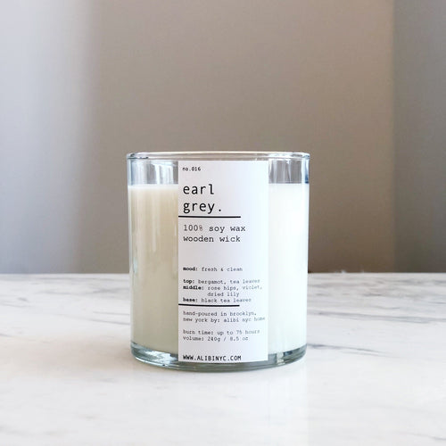 EARL GREY | 100% SOY WOODEN WICK CANDLE
