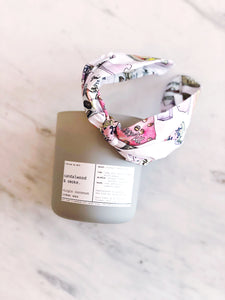 ALIBI NYC X CJW COLLAB | SANDALWOOD & SMOKE COCONUT CREME CANDLE + CANDY CRUSH HAIRBAND