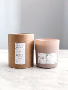 ROSE WATER & HIBISCUS | VIRGIN COCONUT CRÈME WAX & WOODEN WICK CANDLE