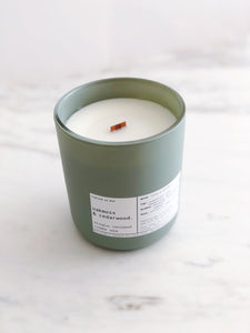 OAKMOSS & CEDARWOOD | VIRGIN COCONUT CRÈME WAX & WOODEN WICK CANDLE