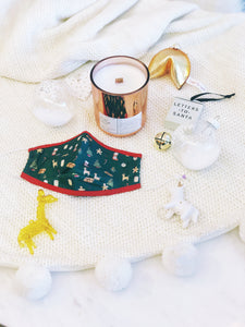 ALIBI NYC X CJW HOLIDAY COLLAB | JUNIPER & BALSAM SPUCE COCONUT CREME CANDLE + HOLIDAY MASK 2.0