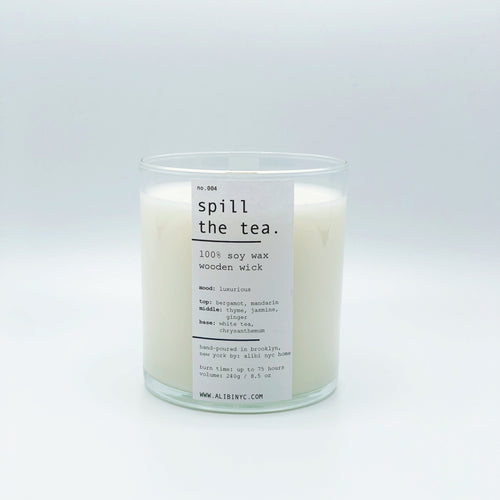 SPILL THE TEA | 100% SOY WOODEN WICK CANDLE