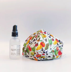 ALIBI NYC X CJW EXCLUSIVE | LEMON BLOSSOM & OCEAN BREEZE HAND SANITIZER SPRAY + EAT YOUR VEGGIES MASK