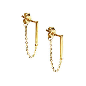 LONG BAR + CHAIN EARRINGS