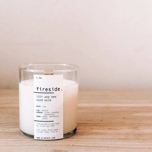 FIRESIDE | 100% SOY WOODEN WICK CANDLE