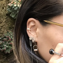 Load image into Gallery viewer, DOUBLE RIM GEM EARCUFF