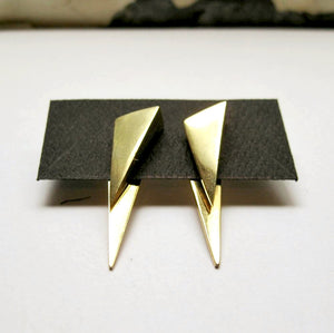 DOUBLE SIDED POINT STUD EARRINGS