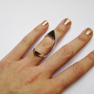 DOUBLE POINTED KNUCKLE RING