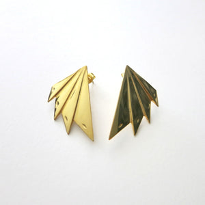 IRON FAN EARRINGS