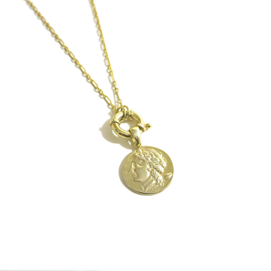 MEDALLION COIN CLASP NECKLACE