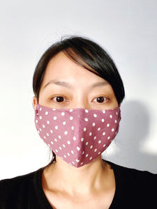 FACE MASK | MAUVE POLKA DOT [PRE-ORDER ONLY]