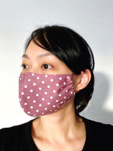 Load image into Gallery viewer, FACE MASK | MAUVE POLKA DOT [PRE-ORDER ONLY]