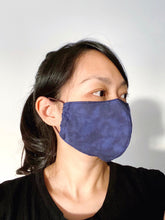 Load image into Gallery viewer, FACE MASK | NAVY MARBLE PRINT