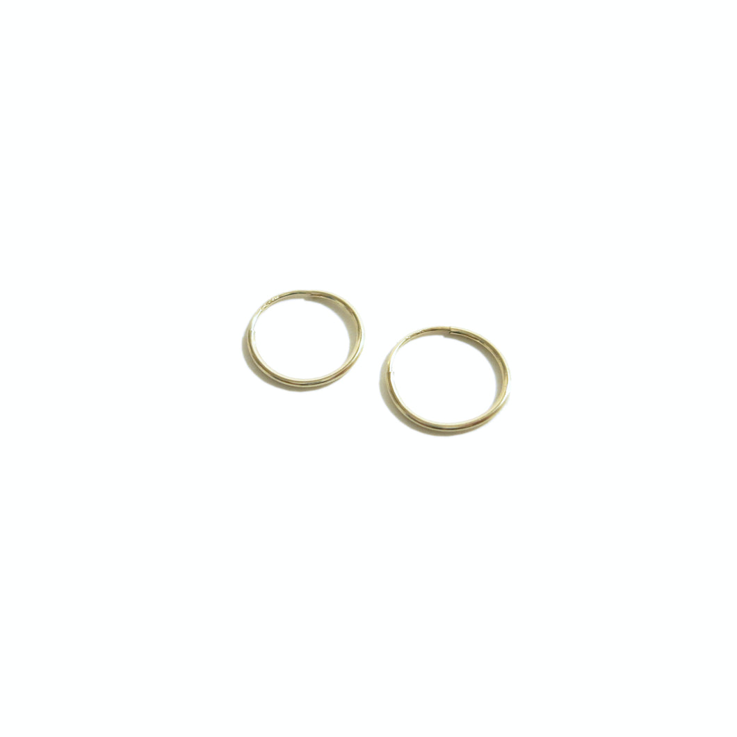 14KT DELICATE HOOP EARRINGS