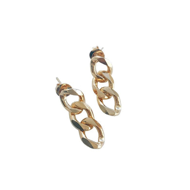 SQUARE LINK CHAIN EARRINGS