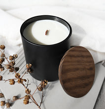 Load image into Gallery viewer, HONEY & BOURBON | VIRGIN COCONUT CRÈME WAX & WOODEN WICK CANDLE