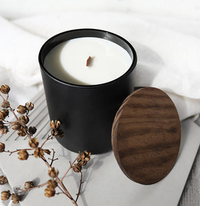 HONEY & BOURBON | VIRGIN COCONUT CRÈME WAX & WOODEN WICK CANDLE