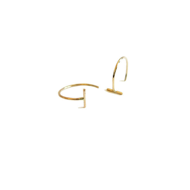 ROUND ARC FINE LINE EARRINGS