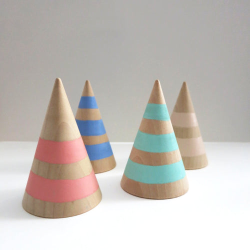 JUMBO STRIPED RING CONES