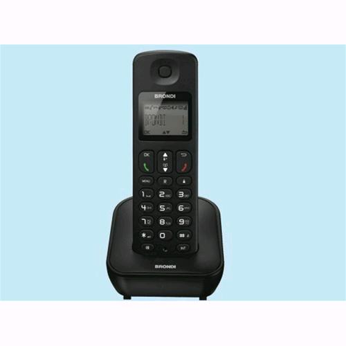 Telefono Cordless BRONDI Mariot Black Display Lcd Illuminato Eco Dect