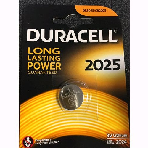 Batteria a Bottone CR 2025 al litio Duracell conf. 10 Blister da 1 Pz