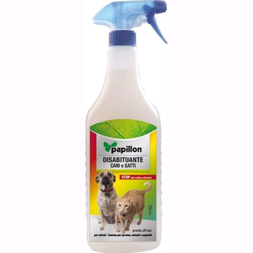 REPELLENTE Disabituante SPRAY per CANI E GATTI 750 ml PAPILLON per esterni