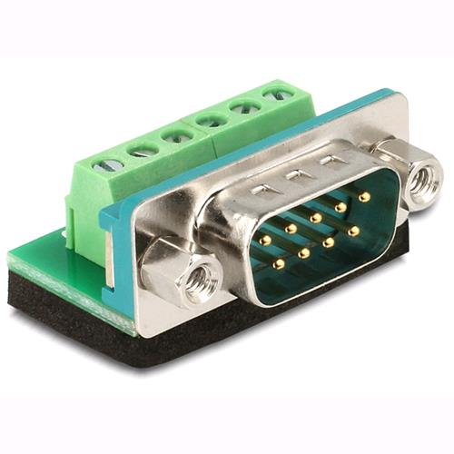 Delock Adattatore DB9 pin Maschio Terminal Block 6 pin
