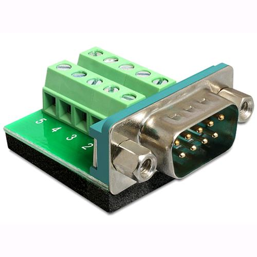Delock Adattatore DB9 pin Maschio Terminal Block 10 pin