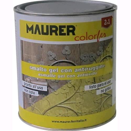 SMALTO GEL Antiruggine MAURER Brillante Conf. da 750 ml Colore VERDE SMERALDO