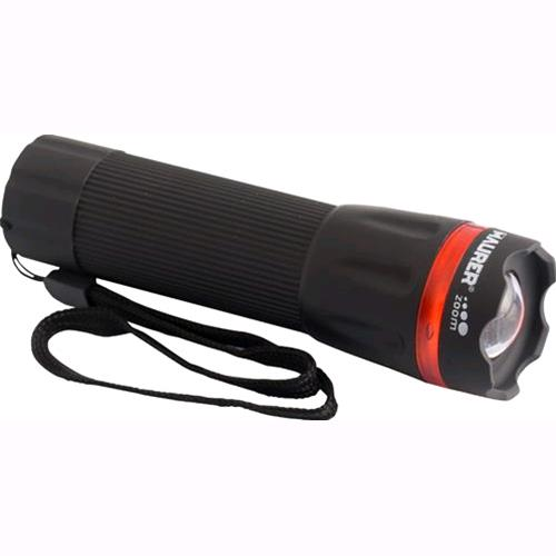 TORCIA a BATTERIA MAURER 5 LED Bianchi CON ZOOM in ABS + Lampeggiante
