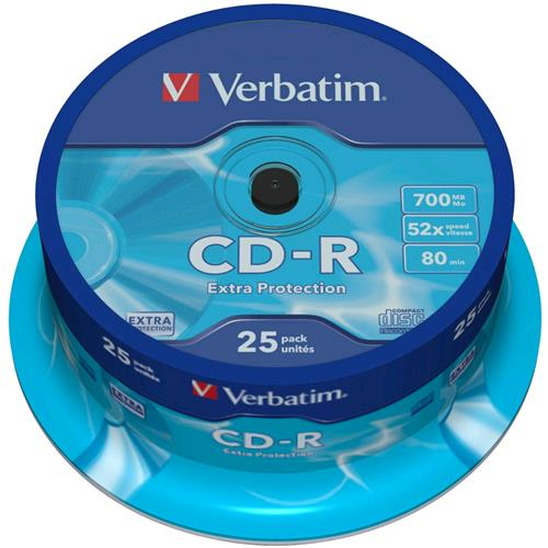 Verbatim Campana 25 CD-R Extra Protection 700MB