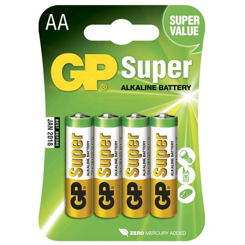 Gp Batteries Blister 4 Batterie AA Stilo GP Super