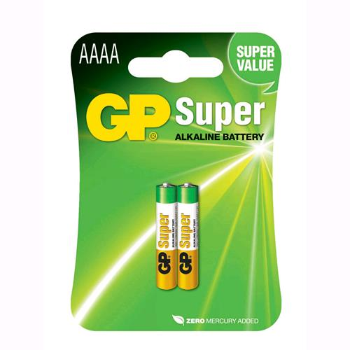 Gp Batteries Blister 2 Batterie AAAA Mini Stilo GP Super