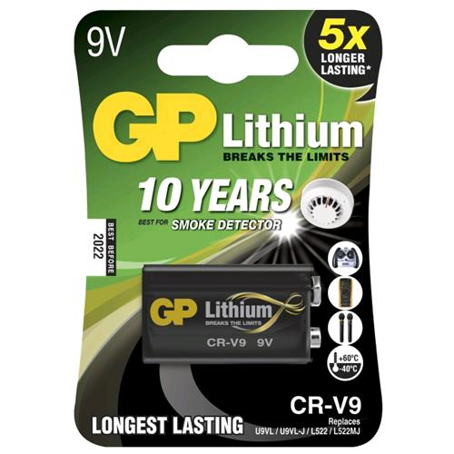 Gp Batteries Blister 1 Batteria Litio 9V Longest Lasting