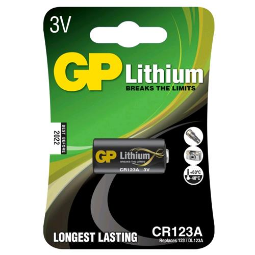 Gp Batteries Blister 1 Batteria al Litio CR123A