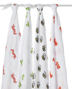 aden + anais mod about baby swaddle classic muslin collection 4 pack