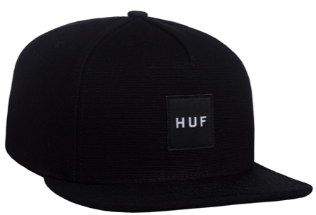 HUF: DUCK CANVAS BOX LOGO SNAPBACK BLACK