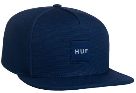 HUF: DUCK CANVAS BOX LOGO SNAPBACK DENIM