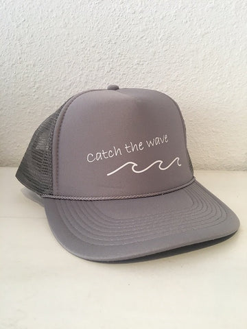Turquoise Limited Caps: Catch the wave /Grey