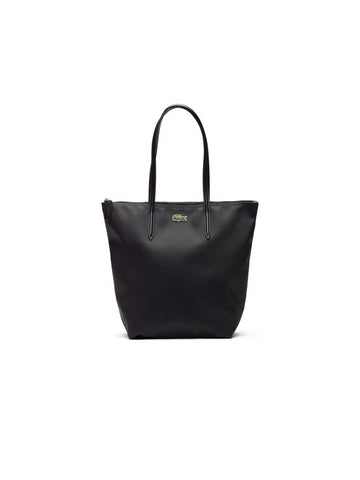 LACOSTE L.12.12 Concept Vertical Zip Tote Bag / Black
