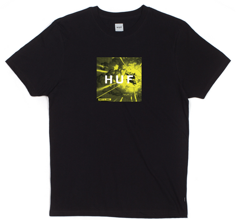 HUF:BLOW UP BOX LOGO TEE BLACK