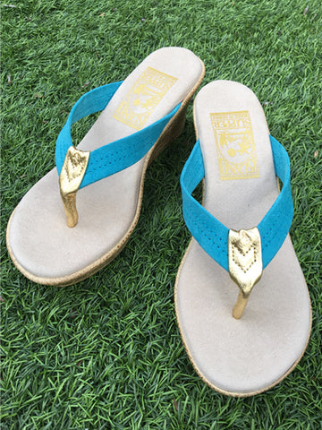 Island Slipper Women's Light Blue x Gold