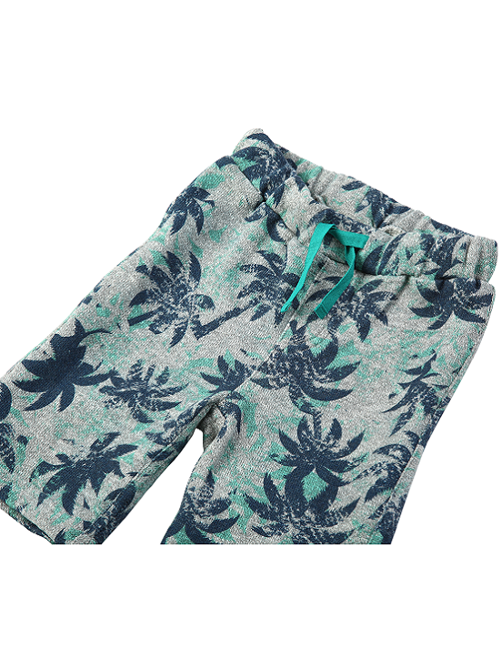 EGG by susan lazar: Tropical Palm Tree Print French Terry Short