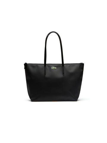 LACOSTE L.12.12 Concept Large Zip Tote Bag / Black