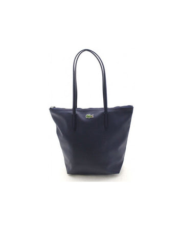 LACOSTE L.12.12 Concept Vertical Zip Tote Bag / Eclipse