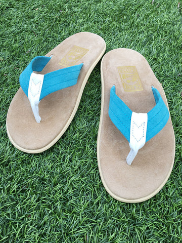 Island Slipper Men's Blue x White